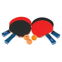HART TABLE TENNIS FOUR PLAYER CLUB SET - FOUR CLUB BATS AND THREE BALLS (21-066)