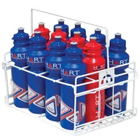 HART DRINK BOTTLE CARRIER - HOLDS 12 DRINK BOTTLES - PLASTIC COATED WIRE (9-726)