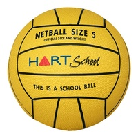 HART SCHOOL RUBBER NETBALLS- DISTINCTIVE YELLOW COULOUR AND MARKINGS TO IDENTIFY