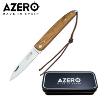 AZERO BOX WOOD POCKET KNIFE - 175MM OVERALL LENGTH (A100141)
