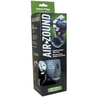 AIR ZOUND BIKE HORN STEEL - PET AIR RESERVOIR - HANDLE BAR MOUNTS (SAM-BKAZ)