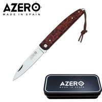 AZERO AMBOINE BURLS POCKET KNIFE - 175MM OVERALL LENGTH (A100241)