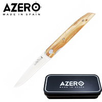 AZERO OLIVE WOOD THIN POCKET KNIFE - 171MM OVERALL LENGTH (A170013)
