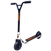 Adrenalin Dirt-X Off Road Kids & Adult Stunt Push Scooter - White