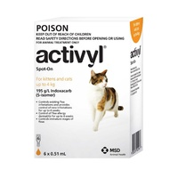 ACTIVYL CAT & KITTEN 0-4KG ORANGE 6'S (A2782)