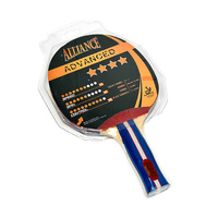 ALLIANCE ECLIPSE 4 STAR TABLE TENNIS BAT - ITTF APPROVED RUBBER (TTABTE4)