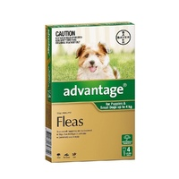 ADVANTAGE DOG  0-4KG GREEN 4'S (B9010)