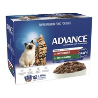 ADVANCE 1+ Adult Cat Multi Pack Tender Chunks In Gravy 12x85g (CA85ACMPTCG12X85)
