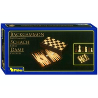 "Backgammon Chess & Checkers 3-In-1 Fold 11"" (CHS025165)"