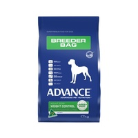 ADVANCE ADULT DOG WEIGHT CONTROL (LARGE BREED) BREEDER BAG 17KG (DAWCBBL17)