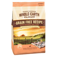 WHOLE EARTH FARMS Grain Free with Recipe Salmon & Tuna 2.5kg (DWEFGFST2.5)