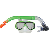 LAND & SEA CLEARWATER SILICONE MASK & SNORKEL SET - MANY COLOURS AVAILABLE