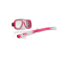 LAND & SEA BERMUDA SILITEX MASK & SNORKEL SET - FEATURES HANDY STRING BAG