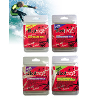 REDBACK SURF WAX - 4 TYPES AVAILABLE - 70 GRAMS - HIGH TRACTION NON SLIP