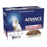 ADVANCE CAT MATURE FISH 85G 12'S (W5404)