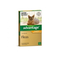 ADVANTAGE CAT 0-4KG SMALL 1'S ORANGE (WACS1)