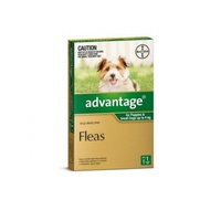 ADVANTAGE DOG 0-4KG SMALL 1'S GREEN (WADS1)