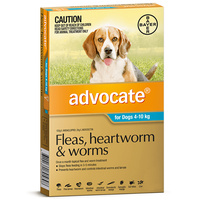 ADVOCATE DOG BAYER 4-10KG MEDIUM 6'S (TEAL) (WBADM6)